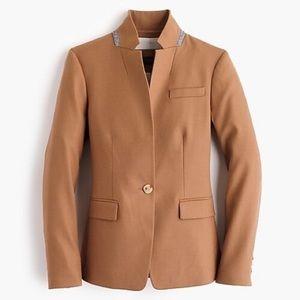 J. Crew Regent Blazer Wool Flannel Camel Gray 8